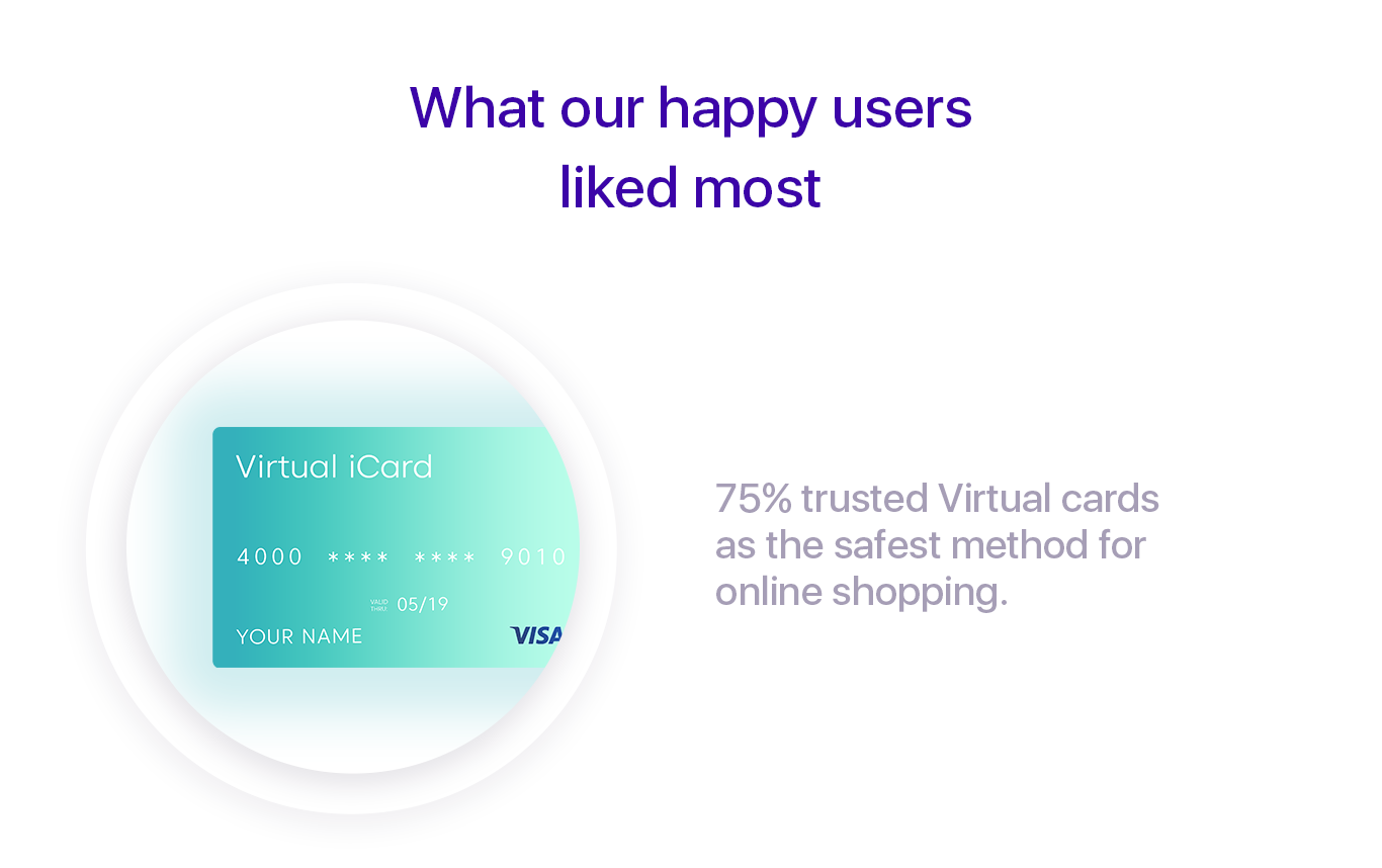 iCard virtual cards in 2018
