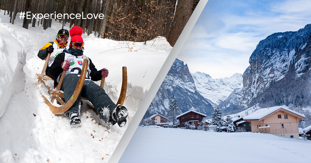 #ExperiencLove - Go to the longest toboggan run in the world, located in Switzerland