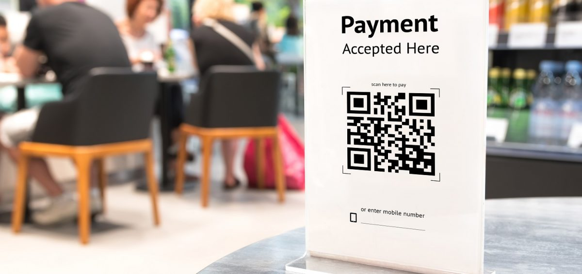 QR code payments instead of cash