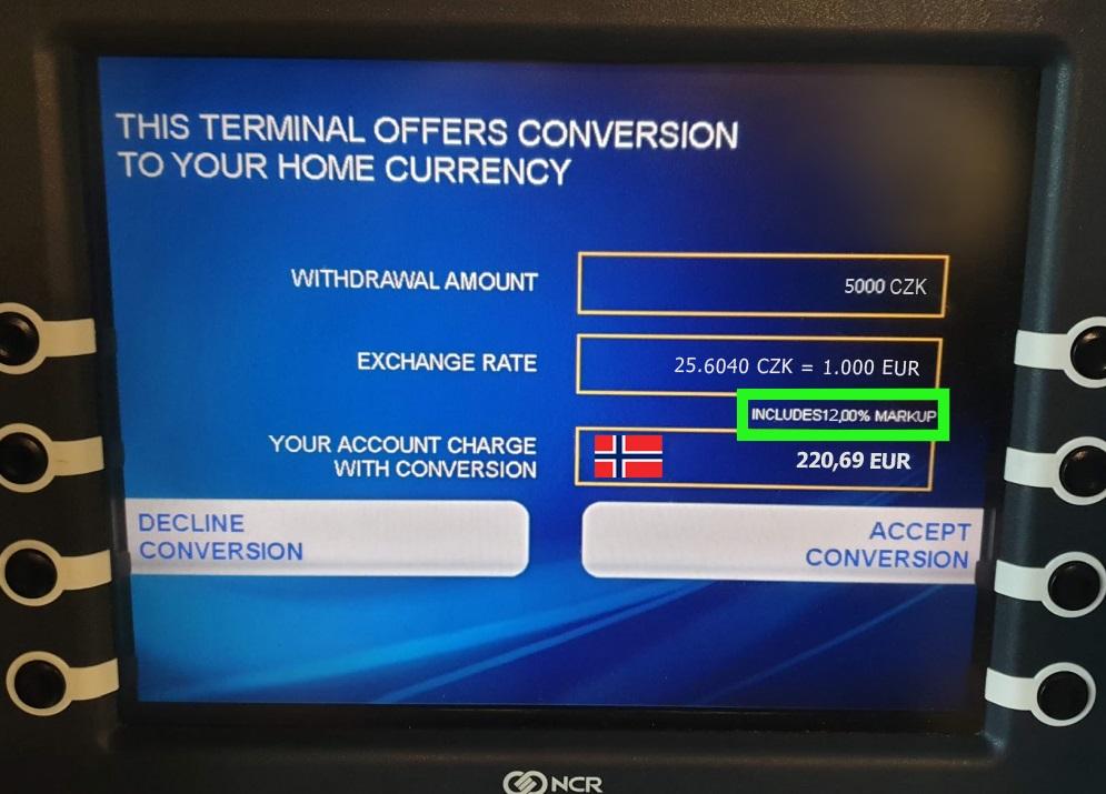 absurdna taksa za obmqna na valuta na bankomat