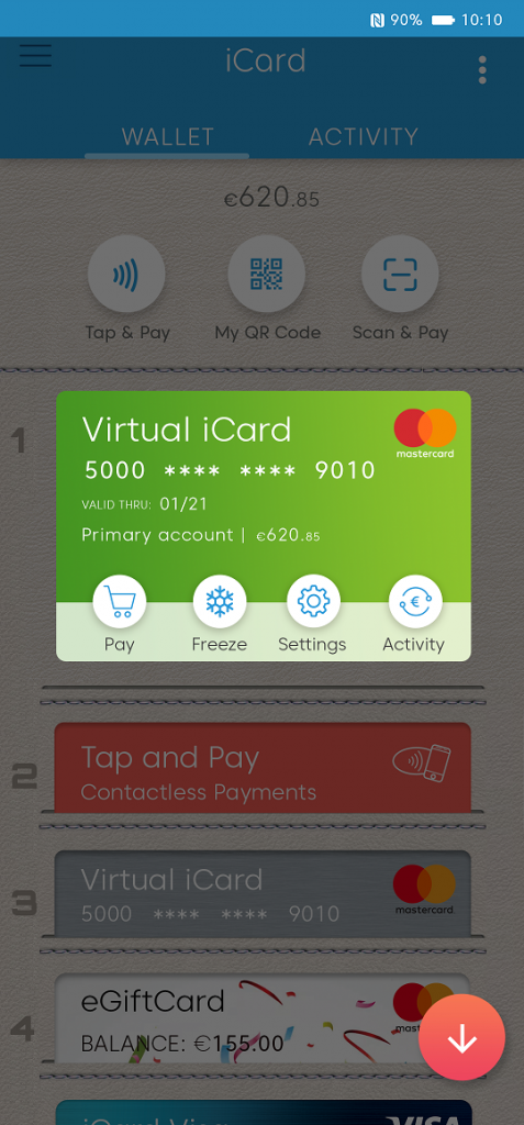 virtual card ready to use for online shopping