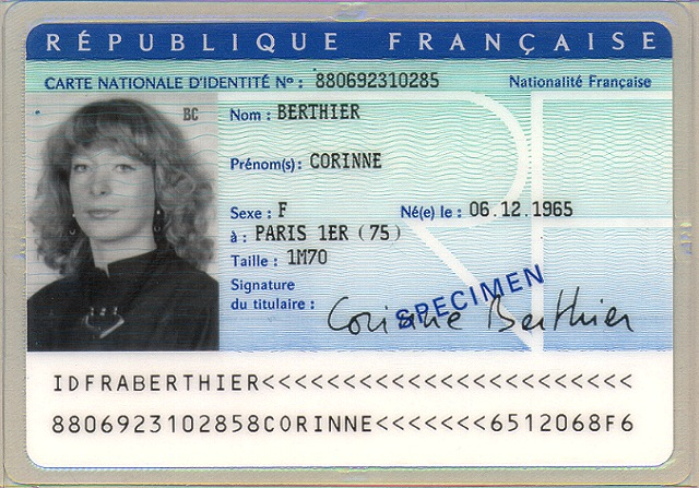 Old French Identity card