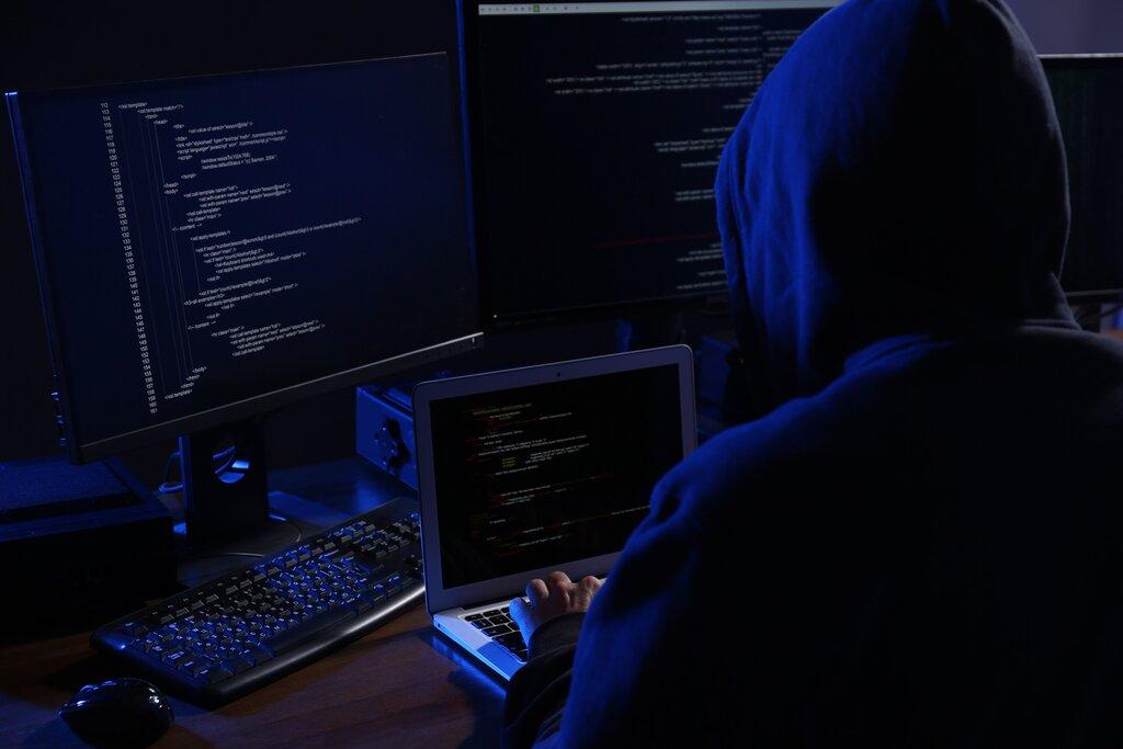 Online hacker.